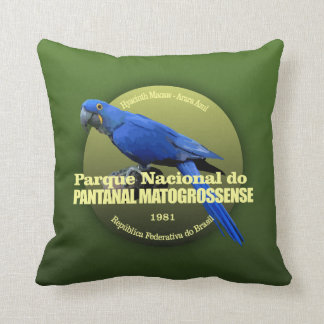 Pantanal Matogrossense NP (Macaw) WT Throw Pillow