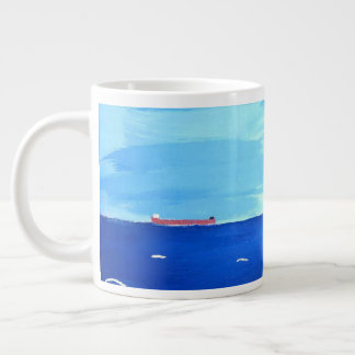 Panted Merchant Vessel on the Great Lakes Large Coffee Mug