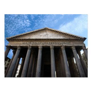 pantheon in rome postcard