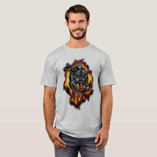 Panther Animal Tattoo Flames, T-Shirt