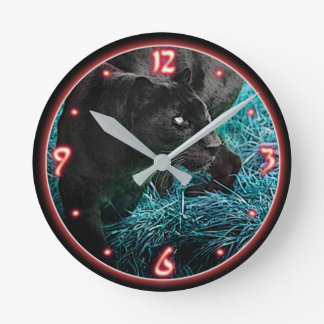 Panther Clock Red