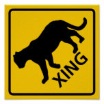 Panther Crossing Highway Sign