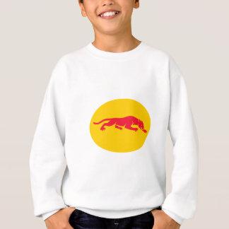 Panther Crouching Oval Retro Sweatshirt