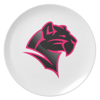 Panther Head Dinner Plate