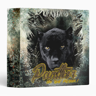 """""""Panther on the Prowl"""" 3 Ring Binder"""