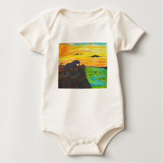 Panther on the prowl baby bodysuit
