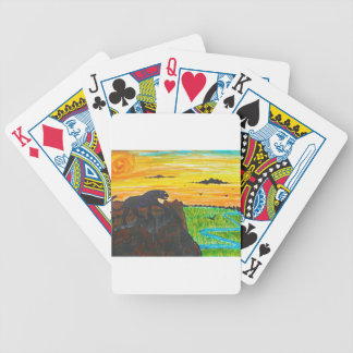 Panther on the prowl bicycle playing cards