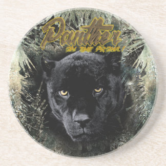 """Panther on the Prowl"" Coaster"