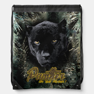 """Panther on the Prowl"" Drawstring Bag"