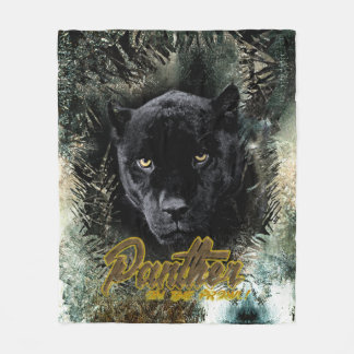 """Panther on the Prowl"" Fleece Blanket"