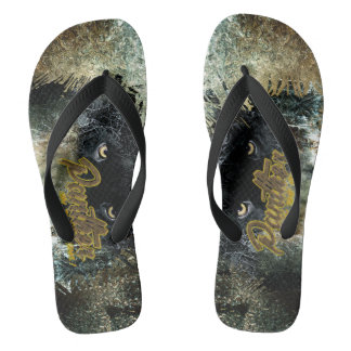 """Panther on the Prowl"" Flip Flops"