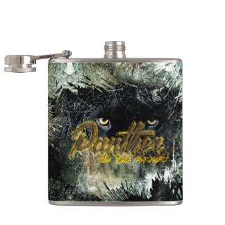 """""""Panther on the Prowl"""" Hip Flask"""