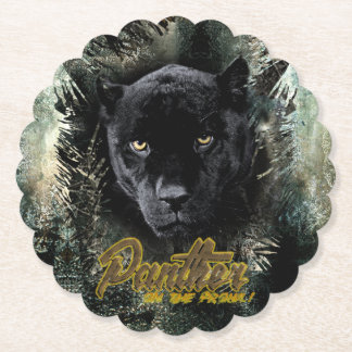 """Panther on the Prowl"" Paper Coaster"