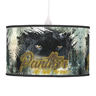"""Panther on the Prowl"" Pendant Lamp"
