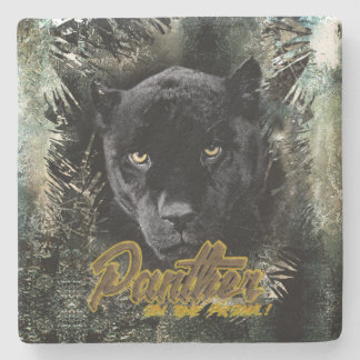 """Panther on the Prowl"" Stone Coaster"
