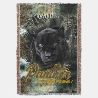 """""""Panther on the Prowl"""" Throw Blanket"""
