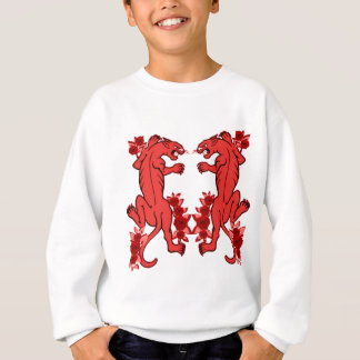 PANTHER PAIR TATTOO PRINT IN RED SWEATSHIRT