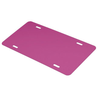 Panther Pink color License Plate