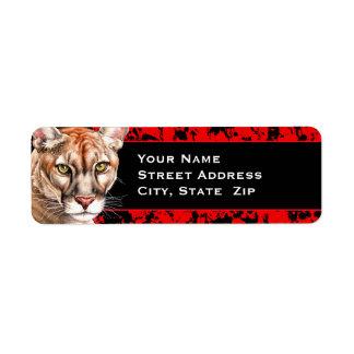 Panther Portrait Return Address Label