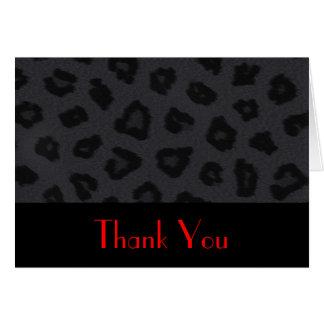 Panther Print Thank You Card