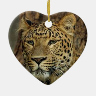 Panther Stalking Ceramic Ornament