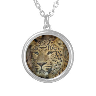 Panther Stalking Silver Plated Necklace