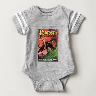 Panther vs Dinosaur Baby Bodysuit