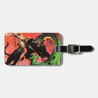 Panther vs Dinosaur Luggage Tag