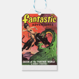 Panther vs Dinosaur Pack Of Gift Tags