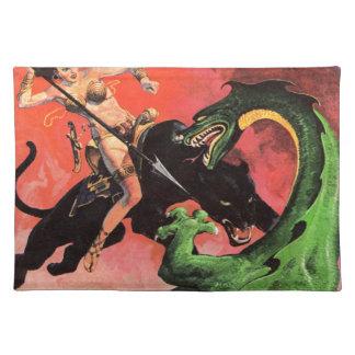 Panther vs Dinosaur Placemat