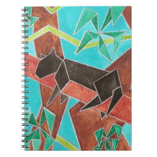 Panther Watercolor Art Spiral Notebook
