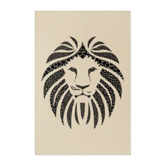 Panthera psychedelic acrylic print