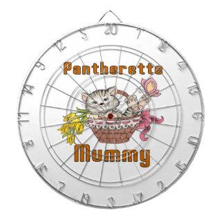 Pantherette Cat Mom Dartboard