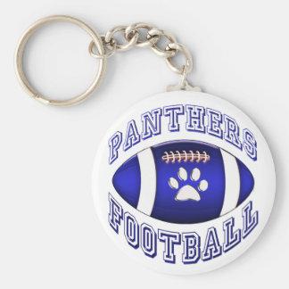 Panthers Football Basic Round Button Keychain