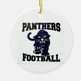 panthers football gear ceramic ornament