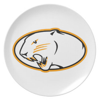 Panthers Logo Dinner Plates