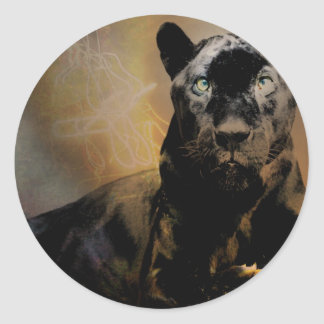 Panther's Pulse Classic Round Sticker
