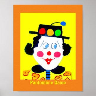Pantomime Dame Poster
