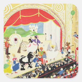 Pantomime Square Sticker