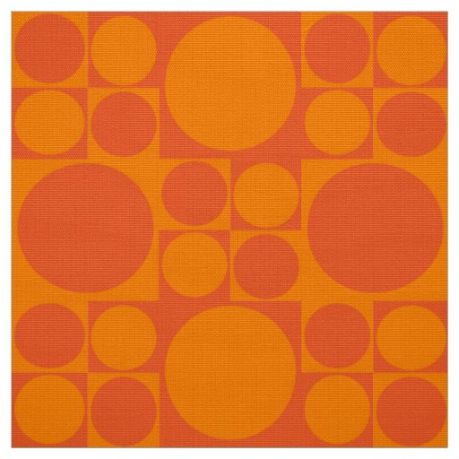 panton inspired orange fabric