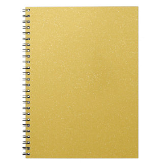 PANTONE Custard YELLOW with fine faux Glitter Spiral Note Books