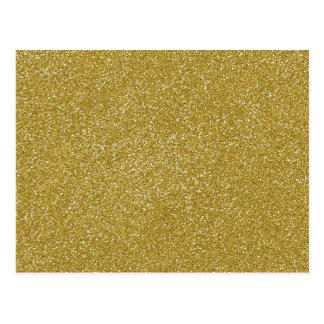 PANTONE Custard YELLOW with fine Glitter Postcard