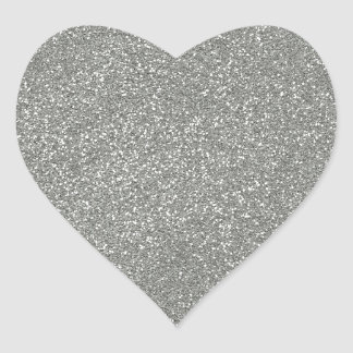 PANTONE Glacier Gray with faux Glitter Heart Sticker