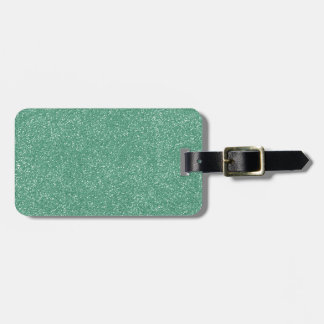 PANTONE Lucite Green with faux Glitter Luggage Tag