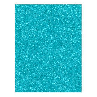 PANTONE Scuba Blue with fine Glitter Postcard