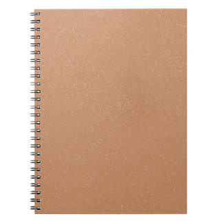 PANTONE Toasted Almond Pink with faux fine Glitter Spiral Notebook