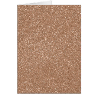 PANTONE Toasted Almond Pink with faux Glitter Card