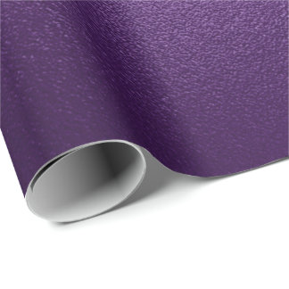 Pantone Ultra Violet Purple Glass Eggplant Grape Wrapping Paper
