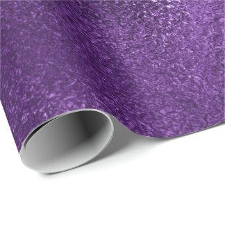 Pantone Ultra Violet Purple Glass Metallic Plum Wrapping Paper