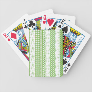 "Pantone's ""Greenery"" with Retro Pattern Stripes Bicycle Playing Cards"
